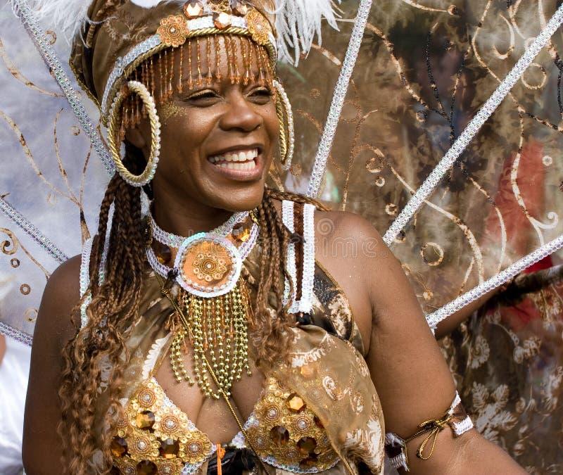 tancerza karnawałowy wzgórze London notting obrazy royalty free