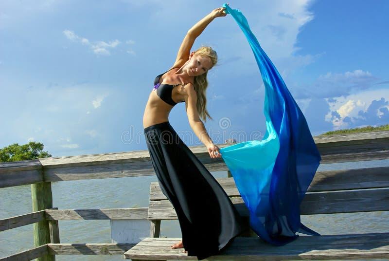 tancerza piękny sukienny spływanie obraz royalty free