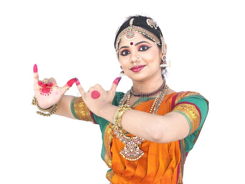 tancerza tradycyjny żeński indyjski zdjęcie royalty free