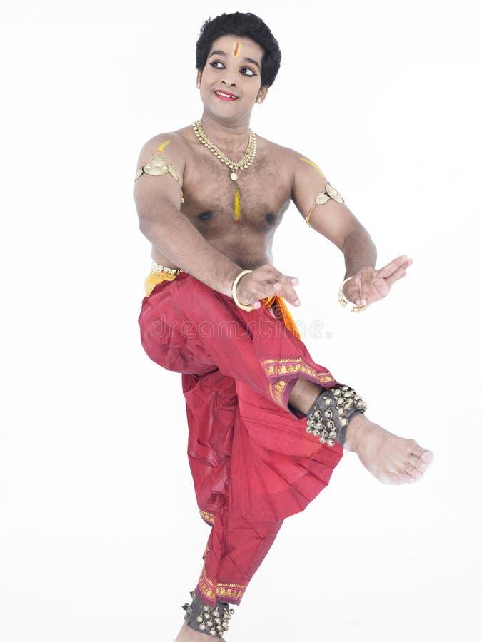 tancerza tradycyjny indyjski męski obraz stock