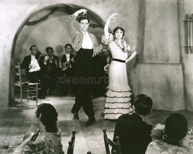 tancerze łacińskich zdjęcie royalty free