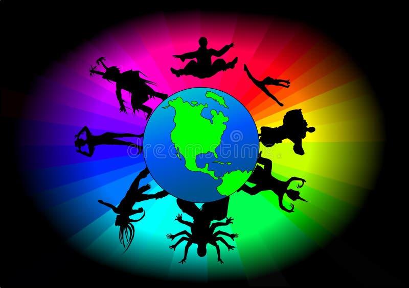 tancerze globalni ilustracji