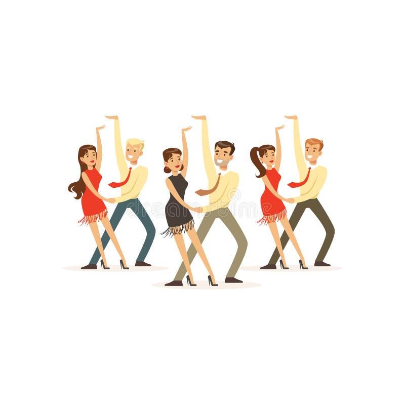 Tancerze latyno-amerykański taniec ilustracji