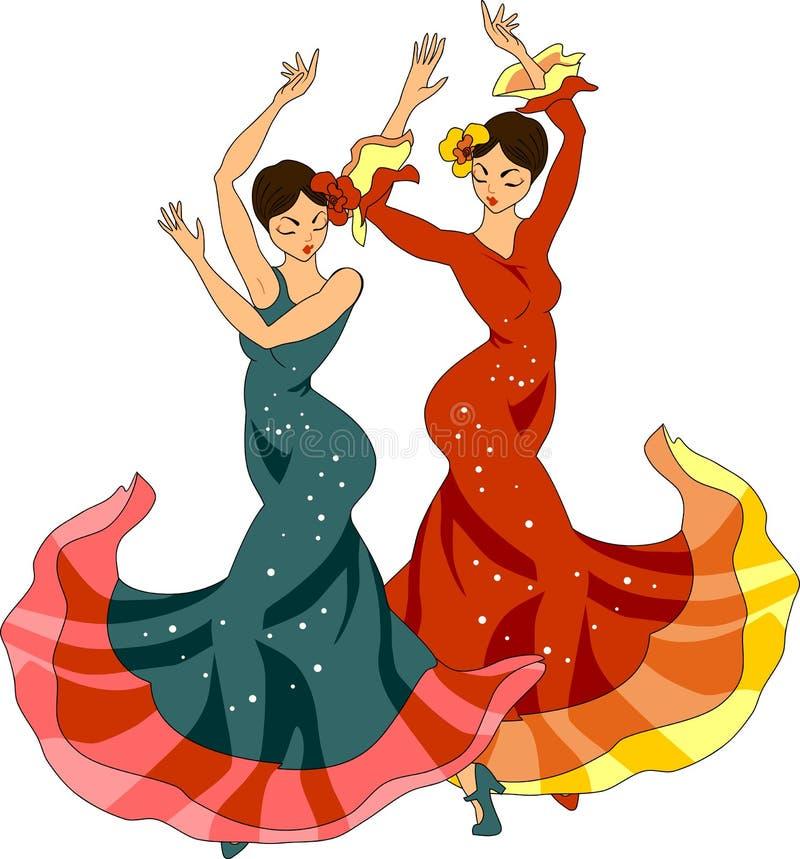tancerze Sevillanas ilustracja wektor