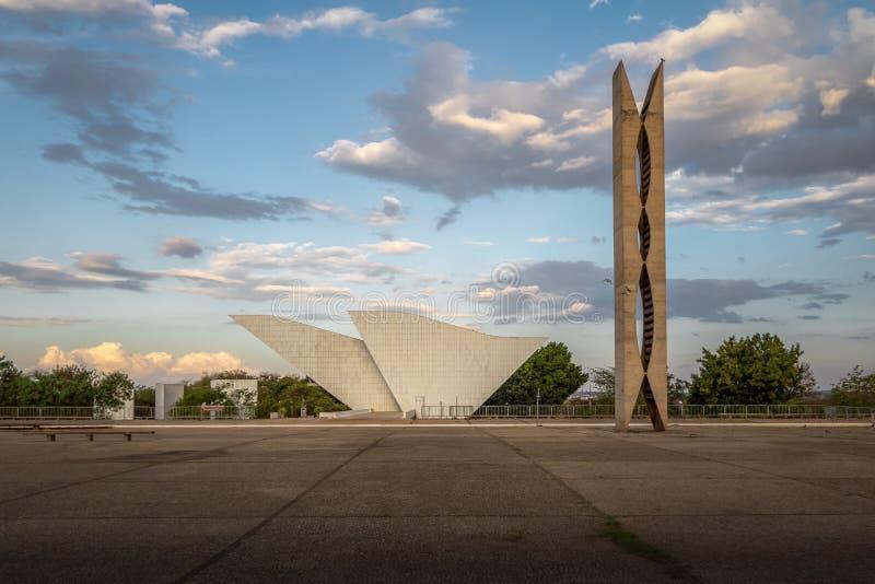 Tancredo Neves panteon wolność przy Trzy władz placem i Fatherland - Brasilia, Distrito Federacyjny, Brazylia zdjęcia royalty free