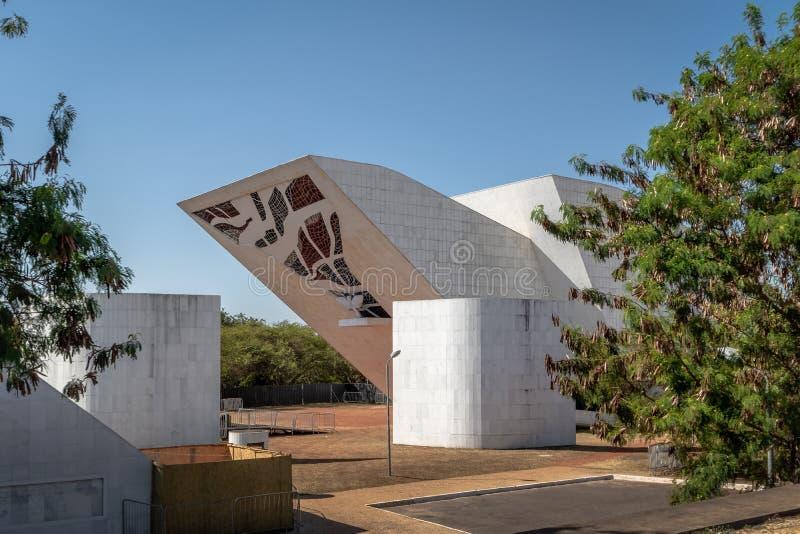 Tancredo Neves Pantheon van het Vaderland en de Vrijheid bij Drie Bevoegdheden Plein - Brasilia, Federale Distrito, Brazilië stock foto's