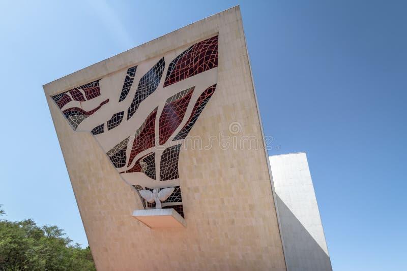 Tancredo Neves Pantheon van het Vaderland en de Vrijheid bij Drie Bevoegdheden Plein - Brasilia, Federale Distrito, Brazilië stock fotografie