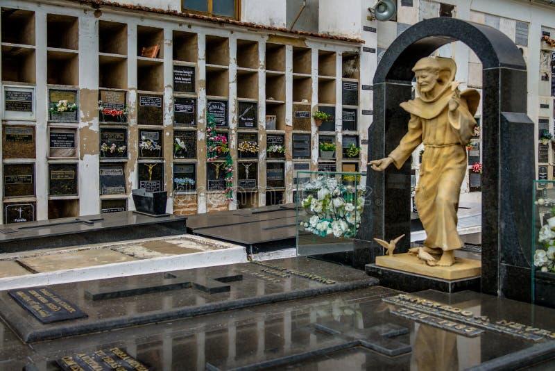 Tancredo Neves Tomb at Sao Francisco de Assis Church Cemetery - Sao Joao Del Rei, Minas Gerais, Brazil stock image