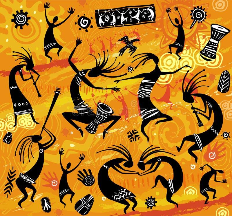 Tanczyć postacie w praforma stylu royalty ilustracja