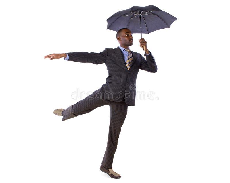 Tanczyć z parasolem obrazy stock
