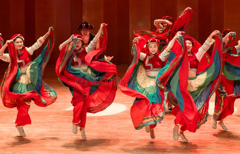 Tanczy dla tana dramata Axi Yi ludowego tana fotografia royalty free