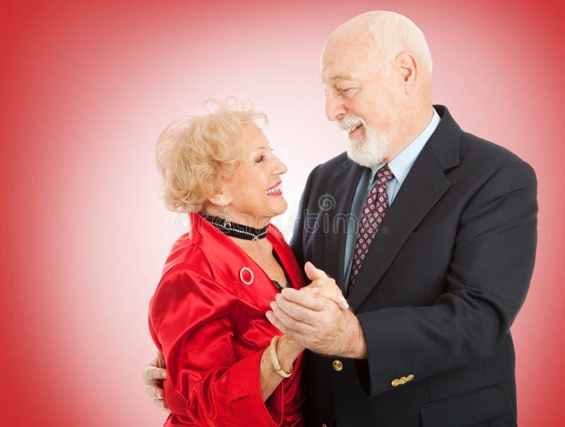 tanczy starszego valentine zdjęcia royalty free