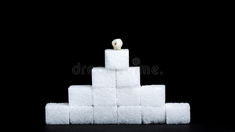 Tand decaycubes royalty-vrije stock fotografie