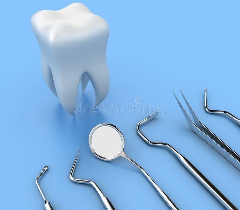 tand- hjälpmedel vektor illustrationer