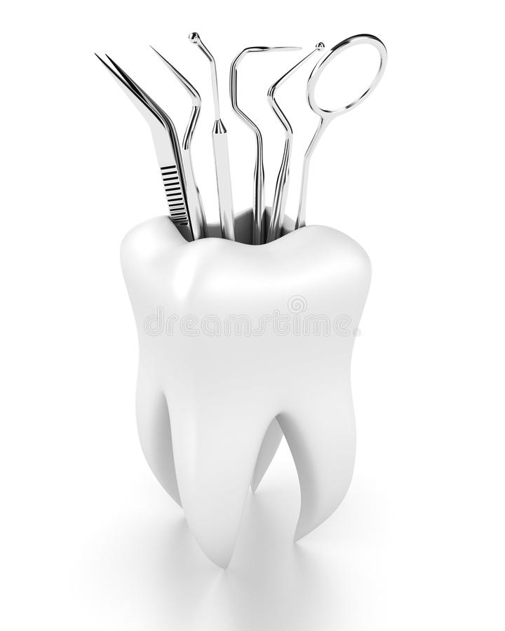 tand- hjälpmedel stock illustrationer