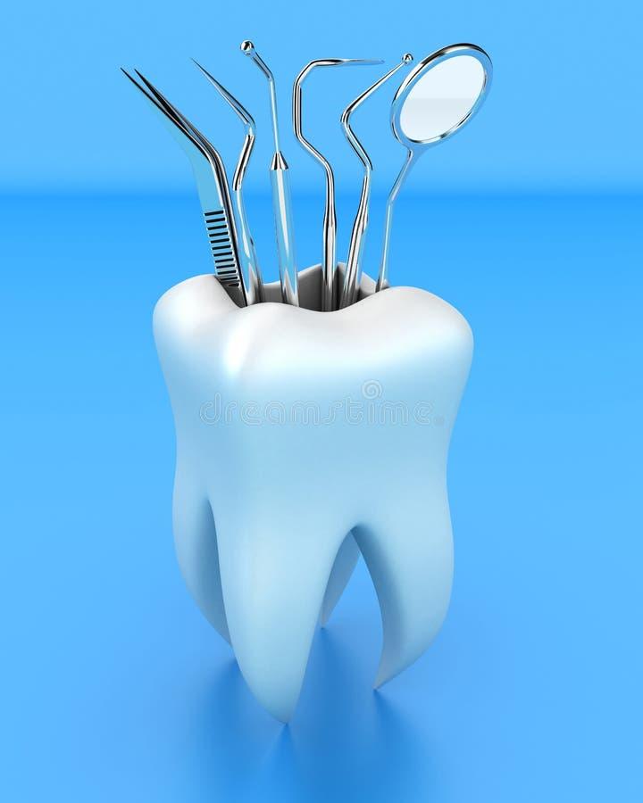 tand- hjälpmedel royaltyfri illustrationer