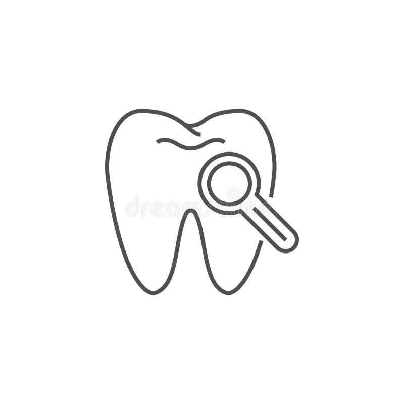 Tand Kenmerkend Lijnpictogram vector illustratie
