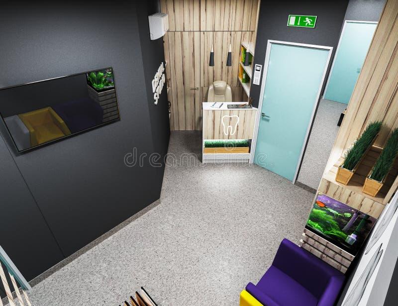 Tand- kontor, väntande rum arkivfoton