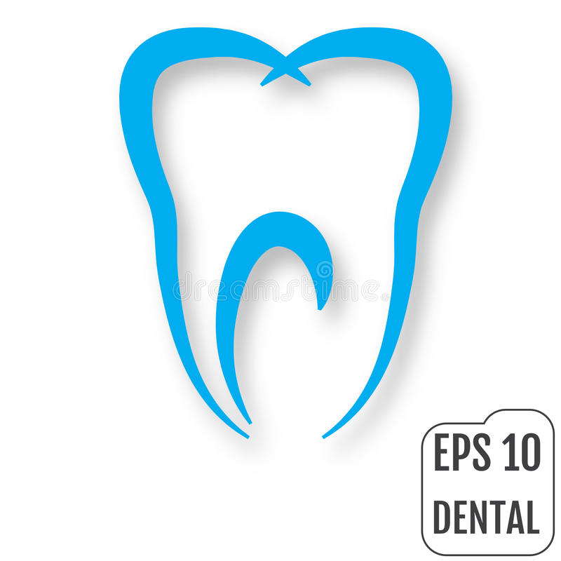tand- logo Begrepp av den tand- kliniken vektor royaltyfri illustrationer