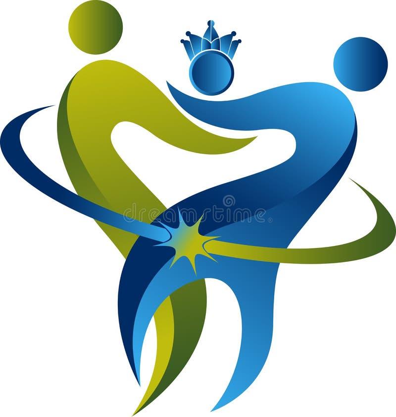 Tand- logo för familj vektor illustrationer