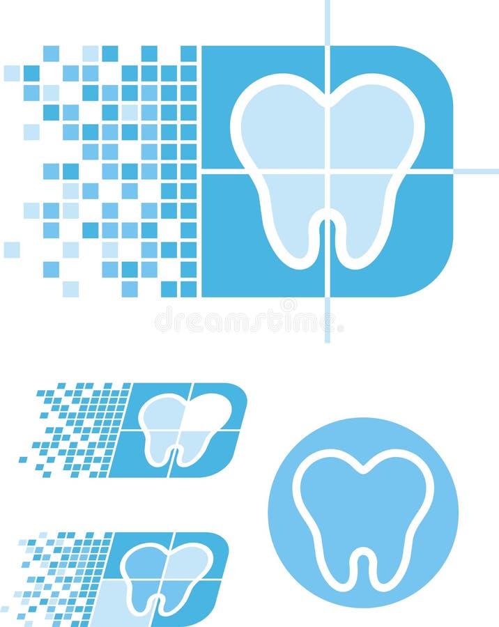 tand- logo för omsorg stock illustrationer