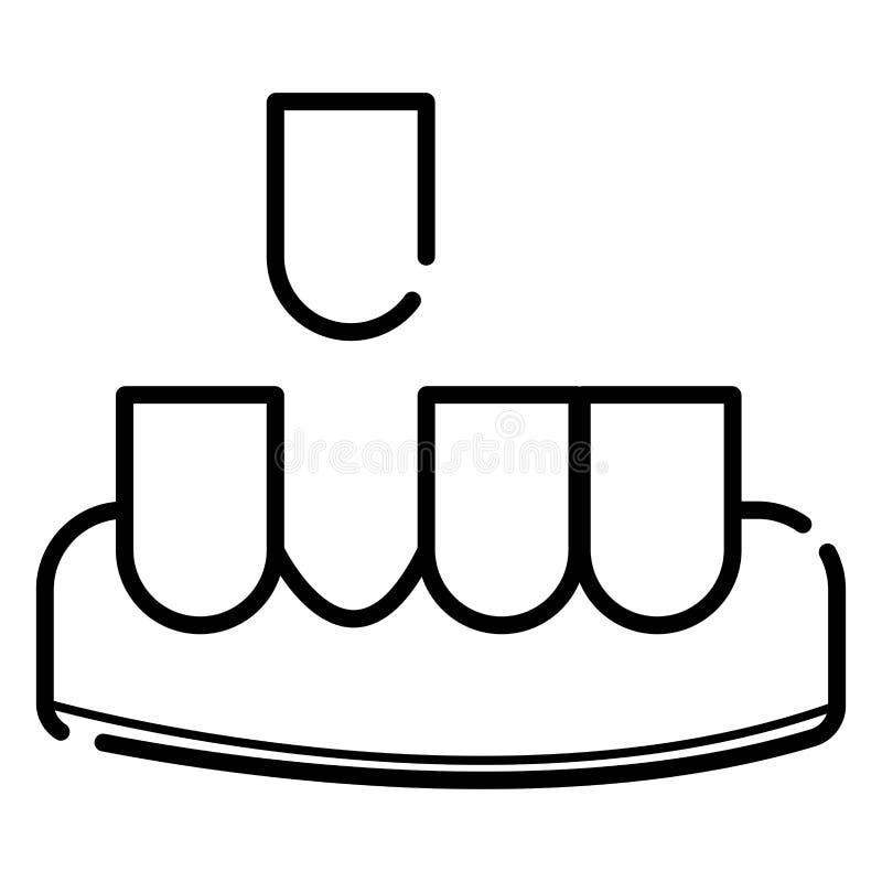 Tand- medicin för vektor royaltyfri illustrationer