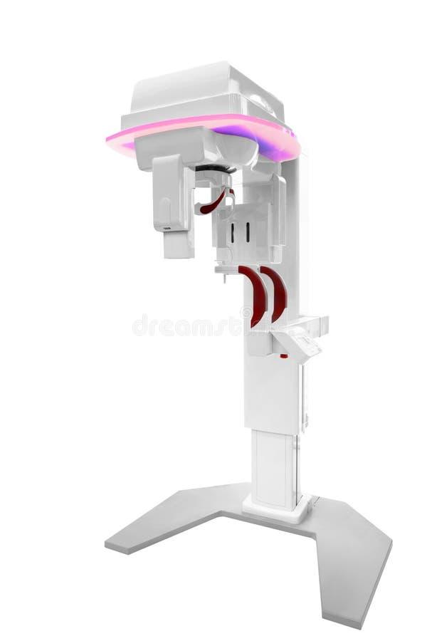 Tand Panoramisch die x-ray Röntgenfotomateriaal op wit wordt geïsoleerd stock afbeeldingen