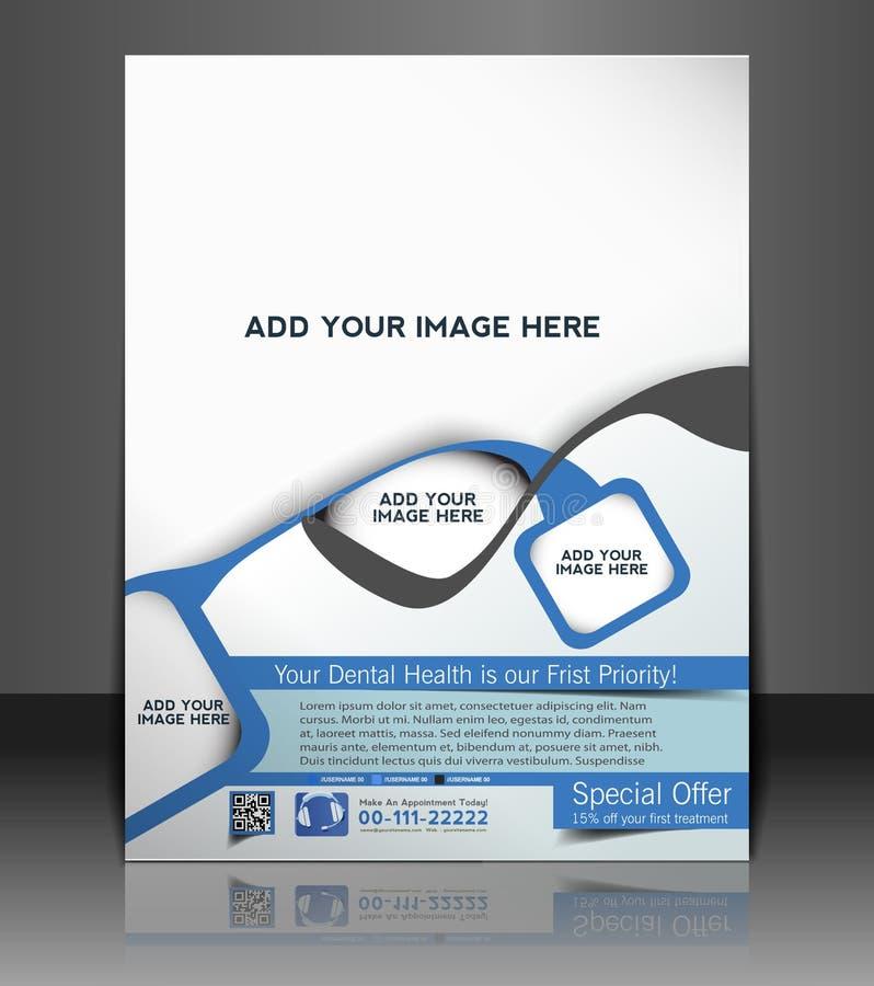 Tand- reklambladdesign vektor illustrationer