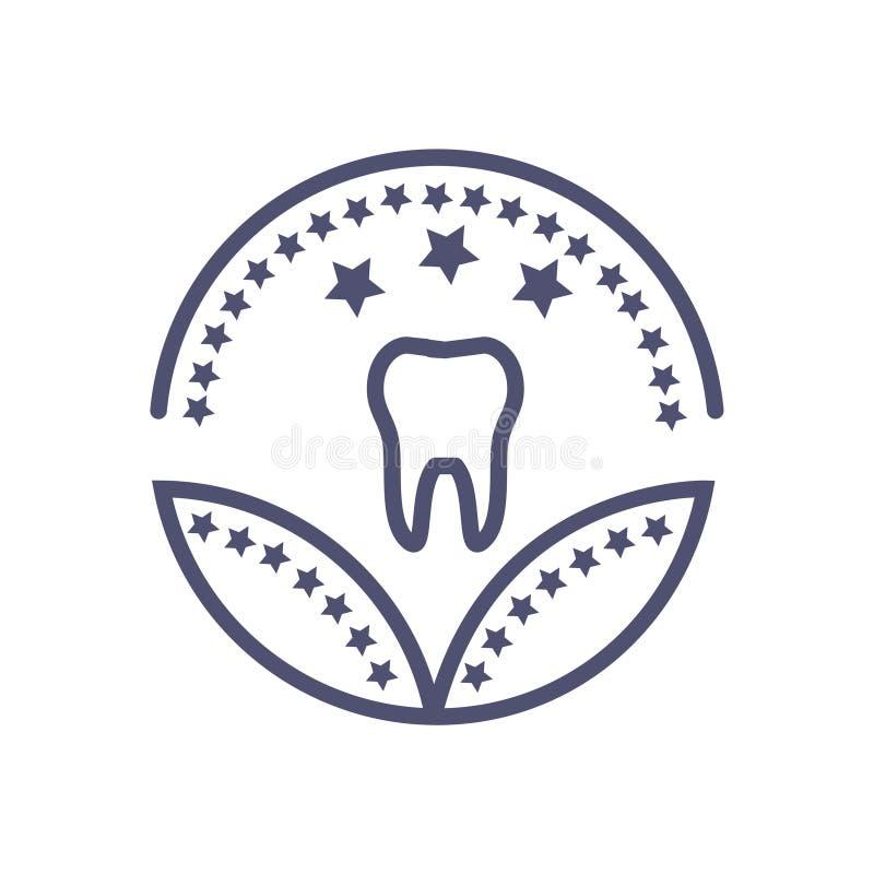 Tand- sjukvård eller medicinskt tecken för sjukvård för utmärkelsesymbolsvektor royaltyfri illustrationer
