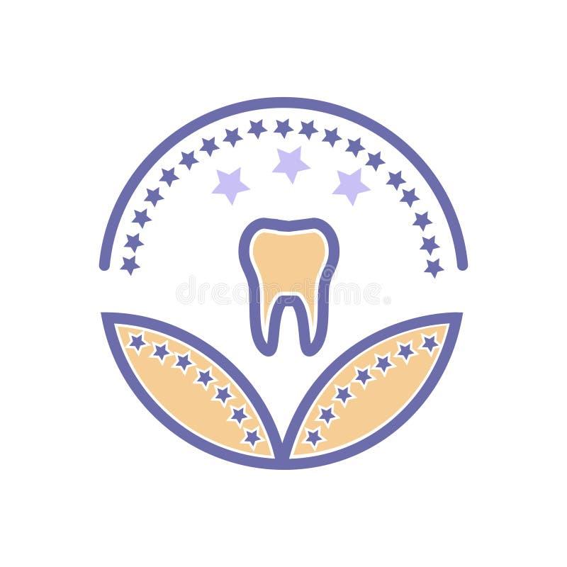 Tand- sjukv?rd eller medicinskt tecken f?r sjukv?rd f?r utm?rkelsesymbolsvektor vektor illustrationer