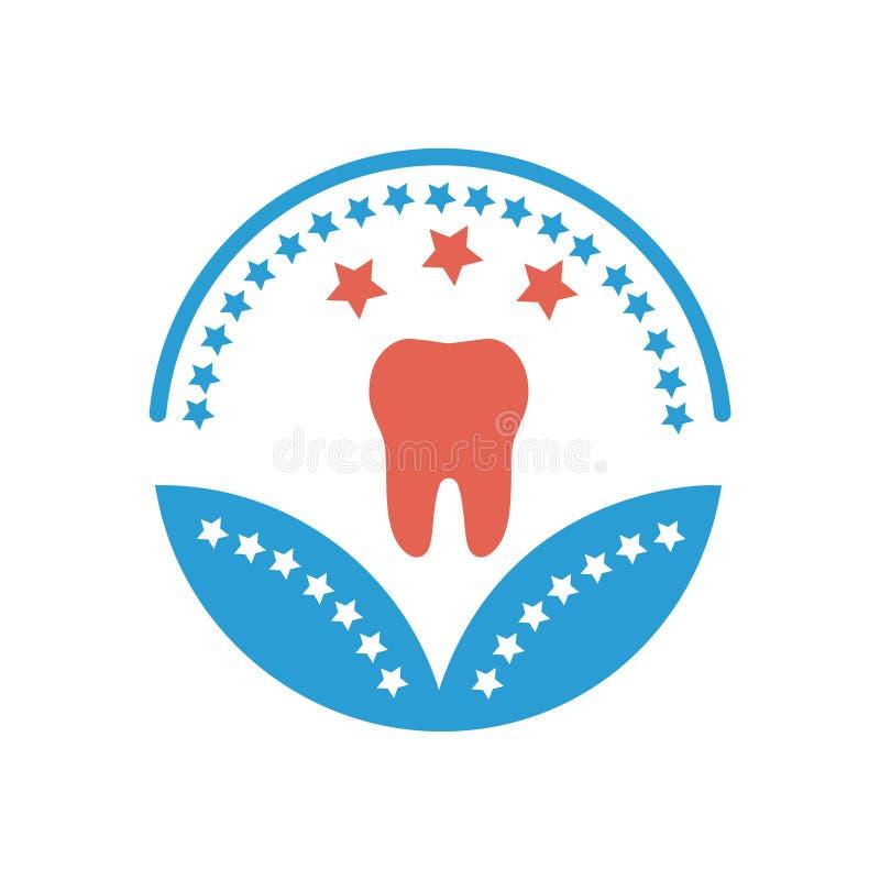 Tand- sjukv?rd eller medicinskt tecken f?r sjukv?rd f?r utm?rkelsesymbolsvektor royaltyfri illustrationer