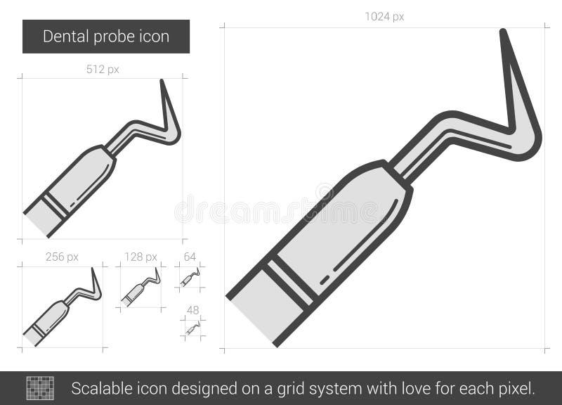 Tand- sondlinje symbol stock illustrationer