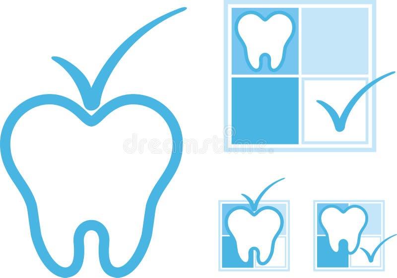 tand- symbol royaltyfri illustrationer