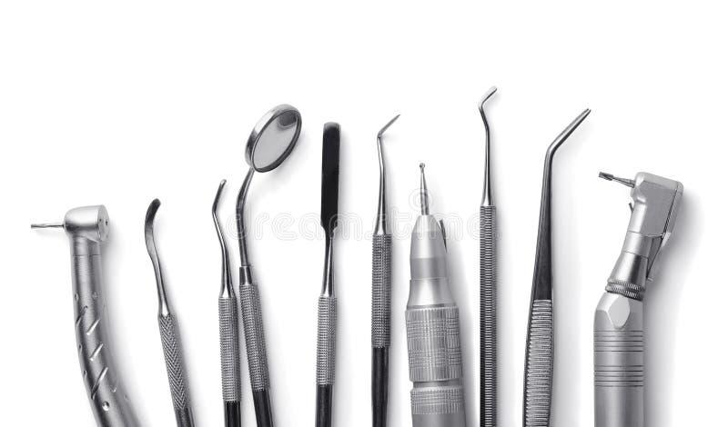 Tand- utrustning arkivbild