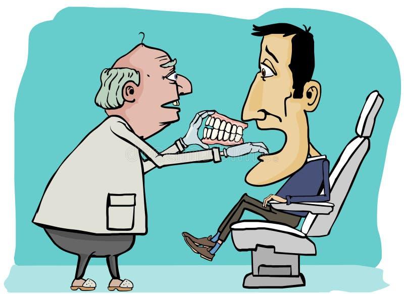 Tandarts veranderende tanden stock illustratie