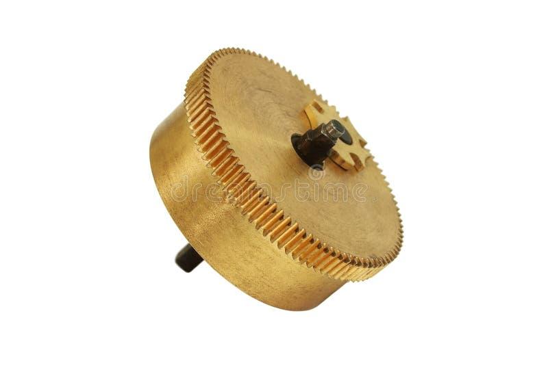tandat hjul för mässingskugghjul arkivfoto