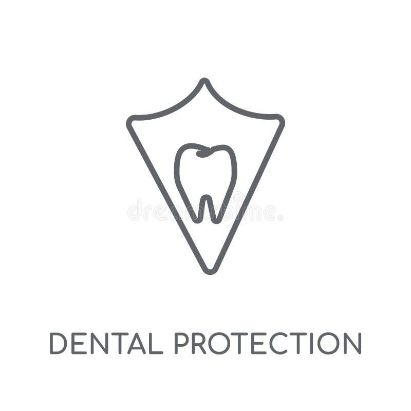 Tandbeschermings lineair pictogram Moderne overzichts Tandbescherming vector illustratie