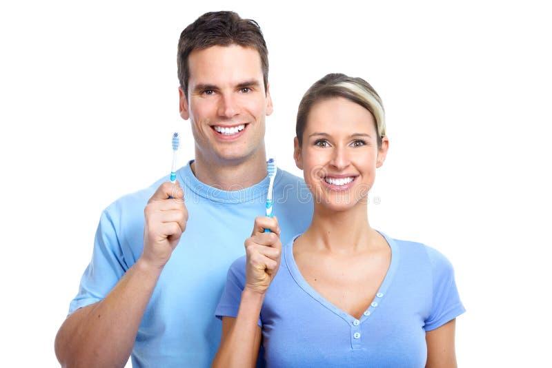 tandborstning arkivfoto