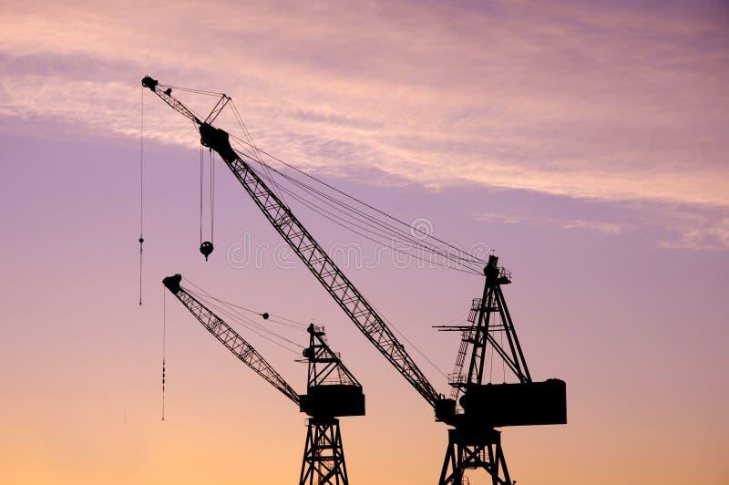 Tandem Cranes Stock Images