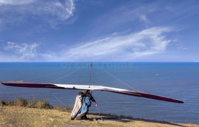 Tandem hang gliding royalty free stock photo