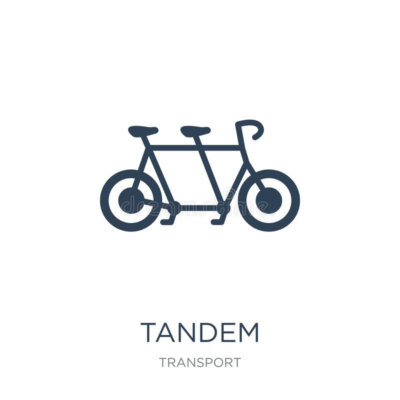 tandem icon in trendy design style. tandem icon isolated on white background. tandem vector icon simple and modern flat symbol for stock illustration