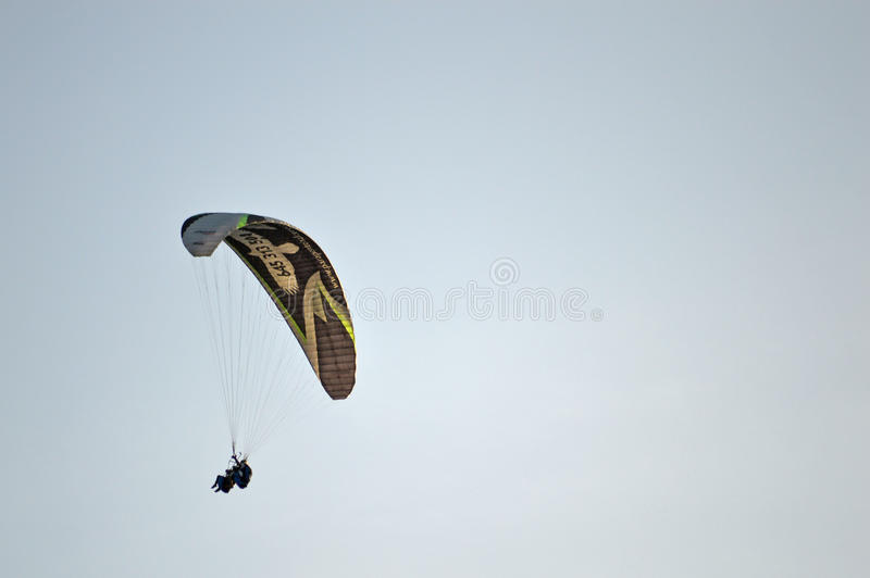 A Tandem Para-glider stock photography