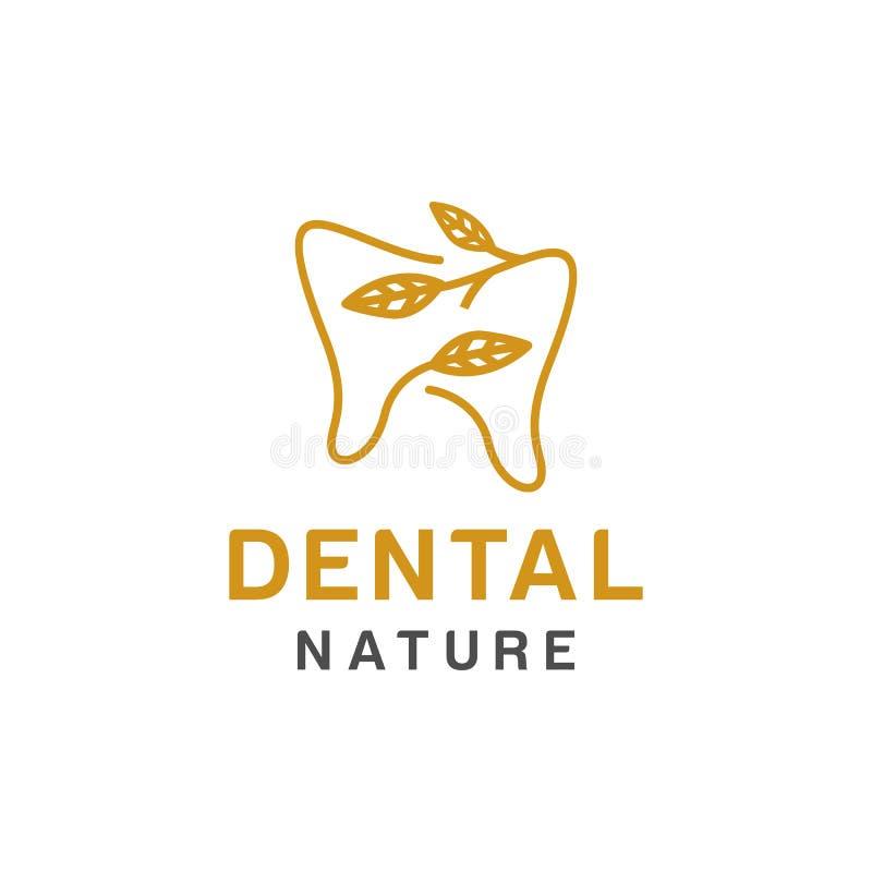 Tandembleemontwerp, pictogram of symbool Eenvoudige minimalistische stijl voor medisch merk vector illustratie