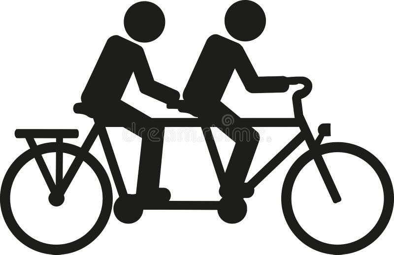 Tandemowy rowerowy piktogram royalty ilustracja