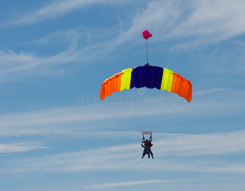 TandemSkydiving stockbilder