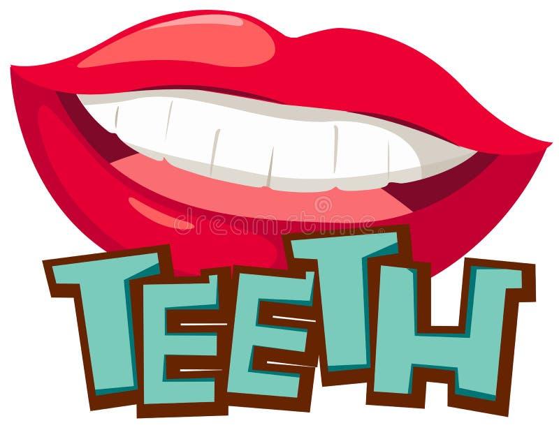 Tanden vector illustratie