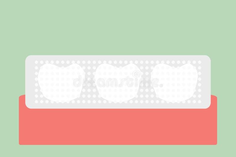 Tanden die strook, tandzorgconcept witten stock illustratie