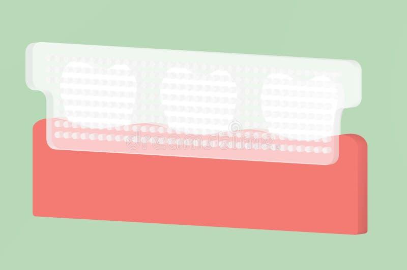 Tanden die strook, tandzorgconcept witten vector illustratie