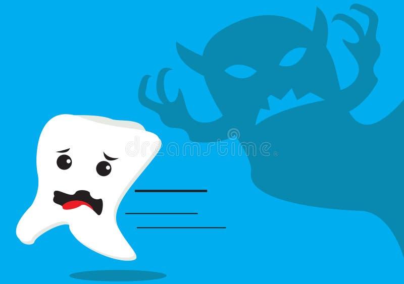Download Tanden en Bactery stock illustratie. Illustratie bestaande uit borstel - 54082120