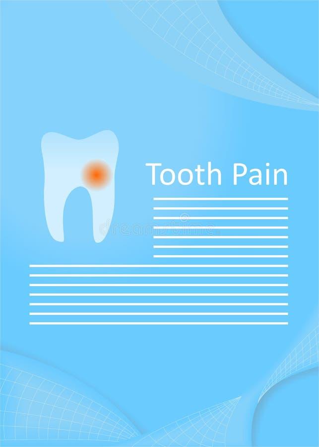 Tanden smärtar royaltyfri illustrationer